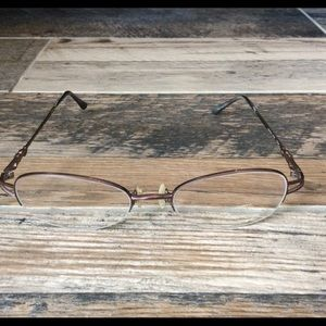 Laura Ashley glasses frosted plum